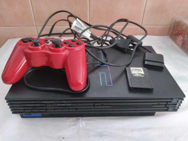 Consola - PlayStation2 Fat SCPH-30004 com comando a funcionar