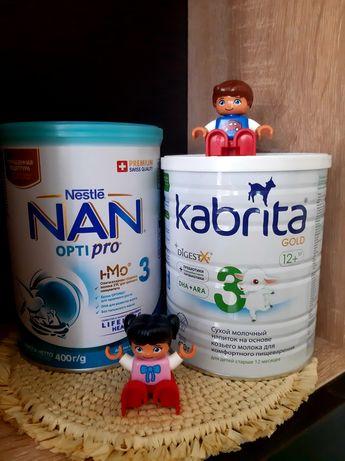 Суміш для годування #3 Kabrita 400г, NAN 3 opti pro 400г