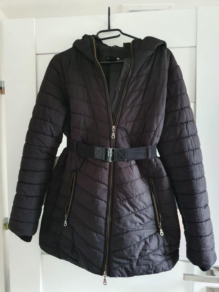 Czarna kurtka ciążowa H&M mama S M 36
