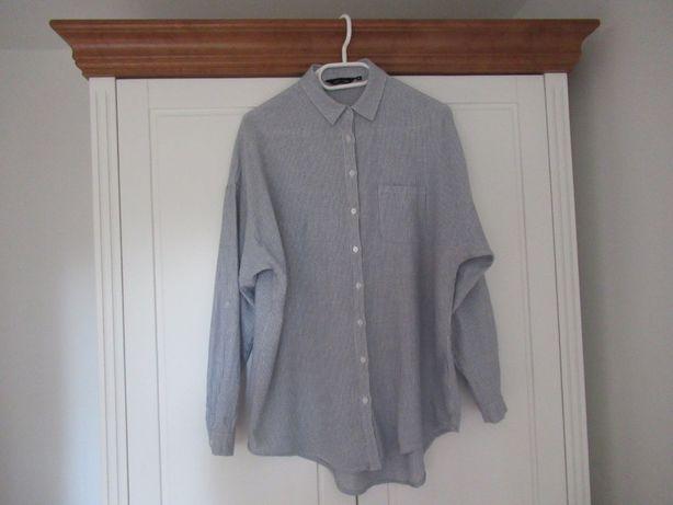 Luźna koszula New Look paski paseczki oversize rozmiar S