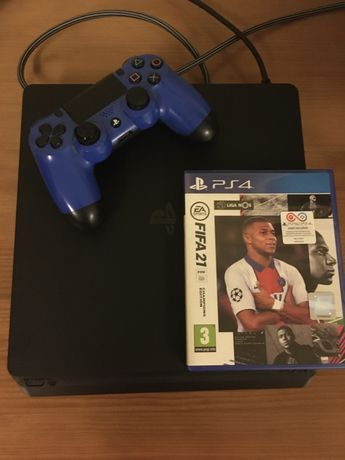 Playstation 4 Slim + comando + FIFA21 (Champions edition)