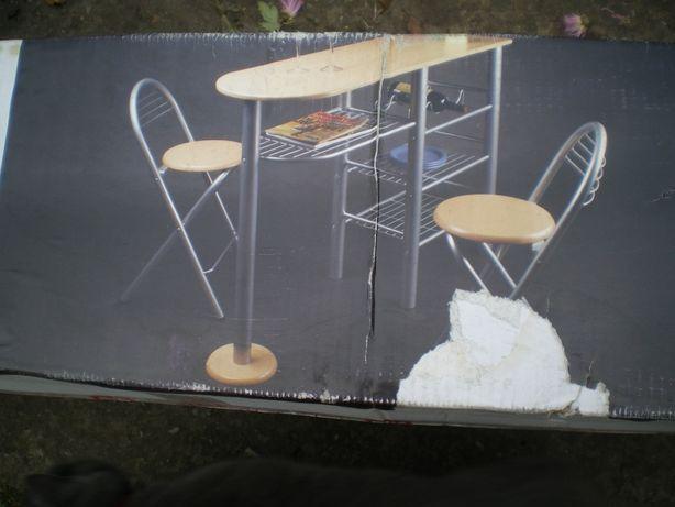 Барная стойка с двумя стульями, новая, такой в предложениях НЕТ Читать