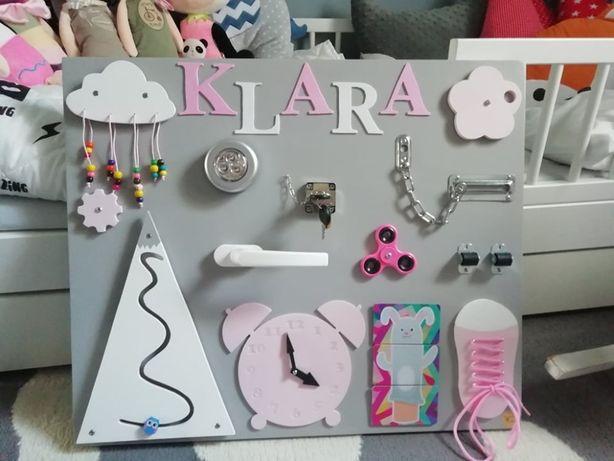 Tablica sensoryczna / manipulacyjna personalizowana zabawka