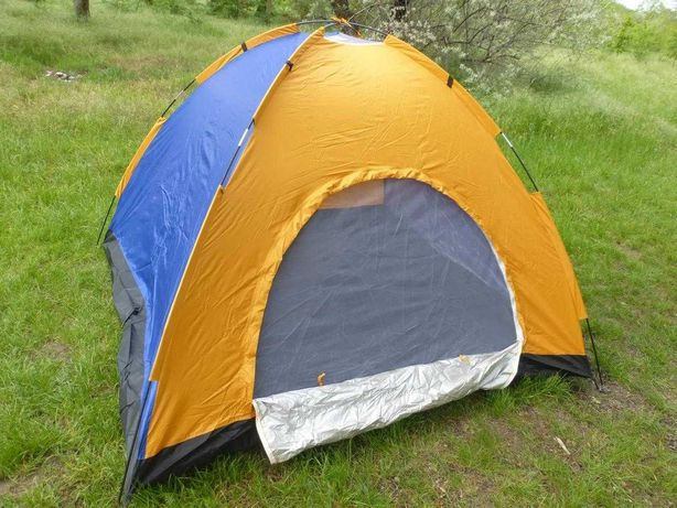 Палатка 4х-местная 2х2х1,35м, палатка туристическая для отдыха