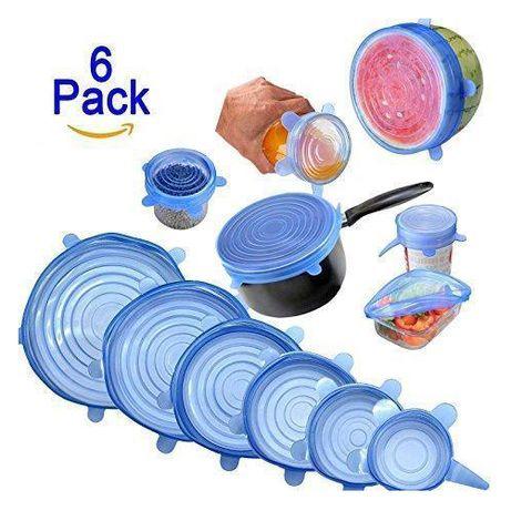 Набор силиконовых крышек для посуды 6 шт универсальные