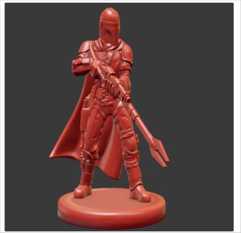 Star Wars The Mandalorian миниатюра главного героя! сувенир статуэтка