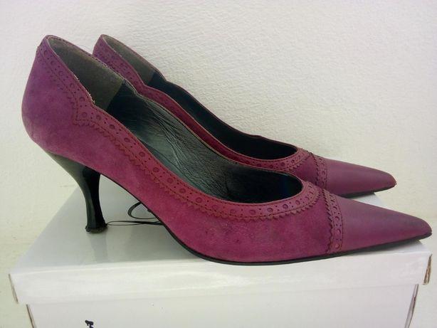 Sapatos bordeaux em pele - Tamanho 37