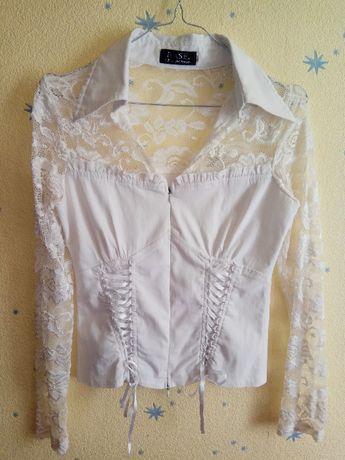 Школьная форма для подростка: блузка, сарафан с поясом и юбка