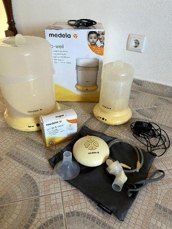 Medela: Bomba Swing + Sacos + Esterilizadora + Aquecedor biberão