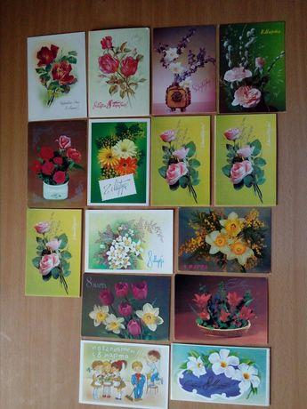 Поздравительные открытки с 8 Марта.