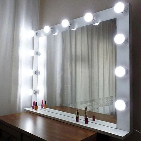 Гримерное зеркало настольное , визажное зеркало, зеркало с подсветко