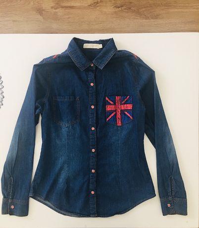 Koszula Jeansowa flaga 12-14 lat dla dziewczynki