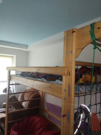 Кровать шведская стенка из массива + 2 стула и стол в подарок