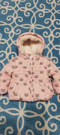 Зимняя куртка для девочки, 3-6 месяцев, 62-68 см.