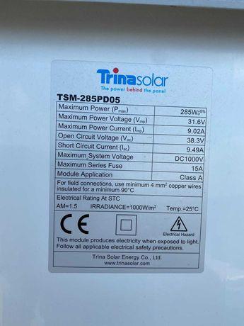 Panele fotowoltaiczne 285 watt.