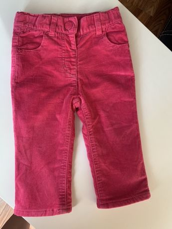 Продам брюки штаны джинсы вельветовые lupilu утепленные на флисе 74