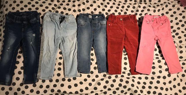 Spodnie dziecięce dla dziewczynki GAP H&M NEXT rozmiar 80, 86, 90,100