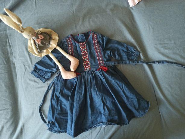 Jeansowa sukienka dla dziewczynki  m&s