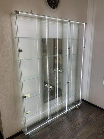 Стеклянные витрины с подсветкой   Самовывоз!!