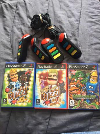 Campainhas Buzz ps2 + jogos