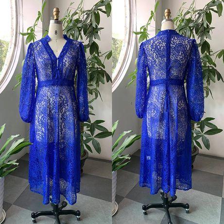 Кружевное платье, 46 размер, М