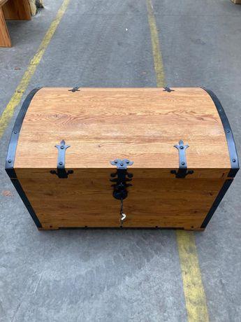 Kufer, skrzynia, box, drewniany, dębowy