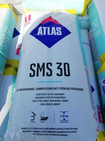 ATLAS SMS 30 , samopoziomujący podkład podłogowy (3-30 mm