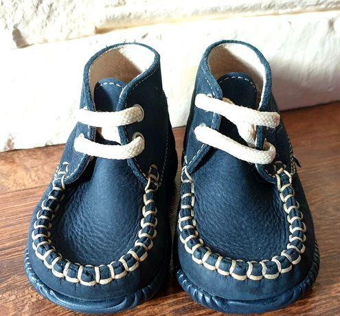 Śliczne buciki na chrzest skórzane lub jako pierwsze buciki rozmiar 18