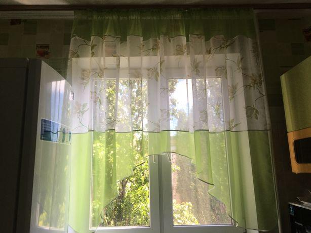 Короткая занавеска для кухни штора
