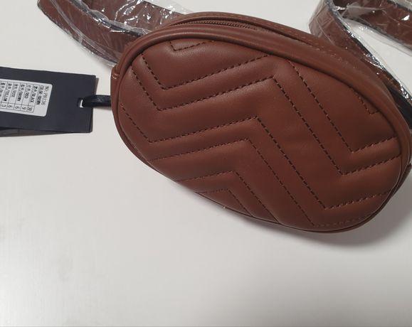 Поясная коричневая сумка