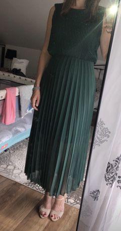 Sukienka butelkowa zieleń sylownia butik na wesele