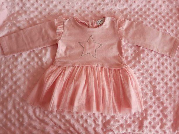 Sukienki 5.10.15, C&A, Breeze girl, r. 74 Zestaw 4 sztuk