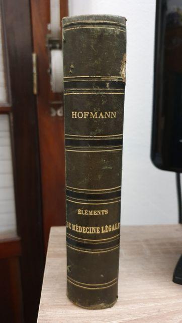 Livro em francês de 1881, NOUVEAUX Éléments de Médecine Légale