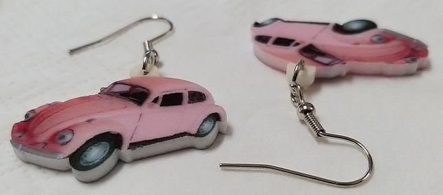 Brincos Pink Carocha.