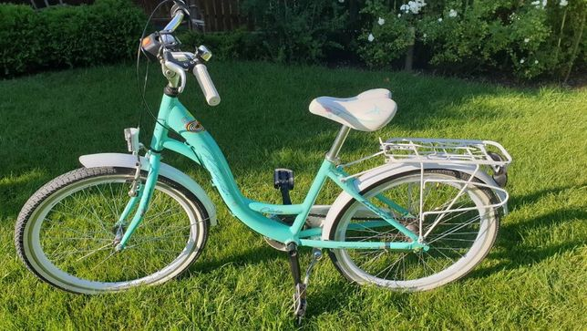 "Rower miejski, 24"", super, aluminium, miętowy :)"