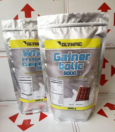 АКЦИЯ! Протеин 2 кг+Гейнер 2кг! Банан,шоколад,клубника