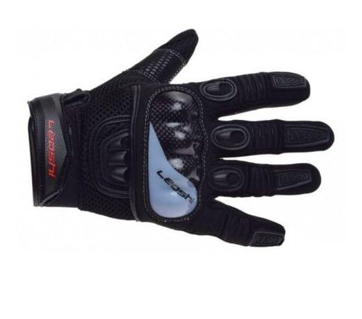 NOWE!! Rękawice motocyklowe LEOSHI czarno-siwe