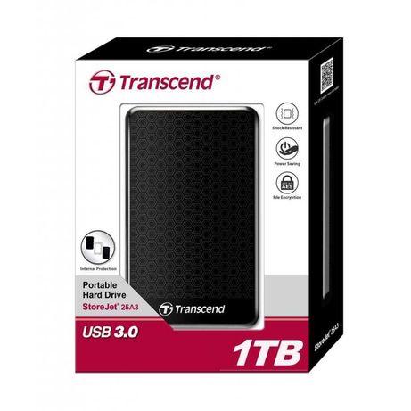 """Жорсткий диск зовнішній Transcend USB 3.0 StoreJet 25A3K 1TB 2,5"""""""