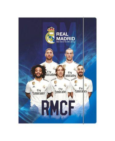 Real Madryt RMCF teczka, teczka z Realem Madryt, teczka piłkarze realu
