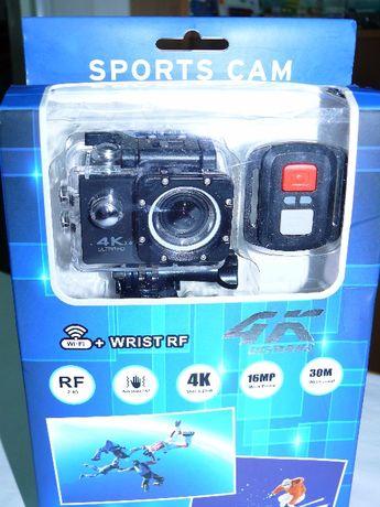 Экшен камера V60-S RF 4K, WiFi, видеокамера. аналог GoPro. Пульт Д/У.
