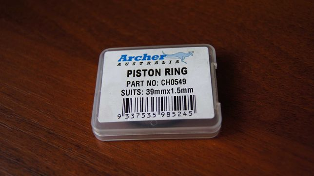Кольцо поршневое для бензопилы 39ммx1.5мм. ARCHER - Австралия