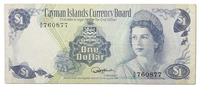 Kajmany 1974 - P 5e-1 dolar! GRATIS WYSYŁKA!