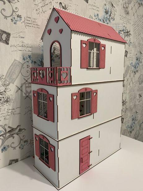 Деревянный кукольный дом, Домик для кукол Барби,Лол, Ляльковий будинок