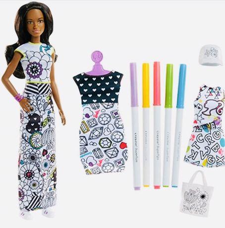 Набор кукла Барби дизайнер CRAYOLA Barbie Crayola Color-in Fashions,br
