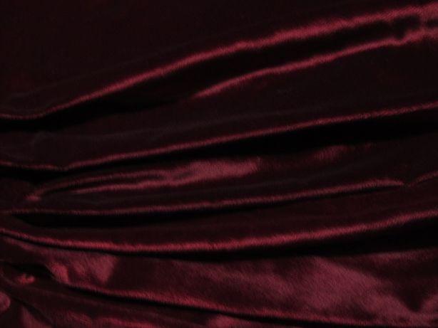 Ткань Бархат бордовый, вишневый
