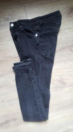 H&M ciemno szare skinny-jeansy 28/32