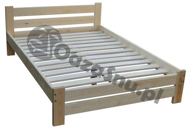łóżko drewniane sosnowe mega solidne z oparciem TRENTINO 180x220