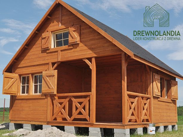 Duży domek bez pozwoleń 100% drewno altana altanka producent