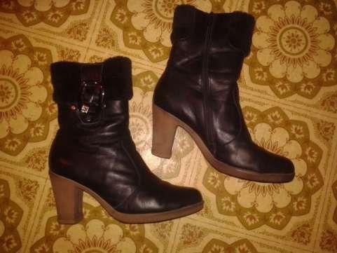 Женские зимние кожаные сапоги 40 размер