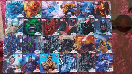 Tazos holográficos Marvel Heroes - Galp (COLEÇÃO COMPLETA!)
